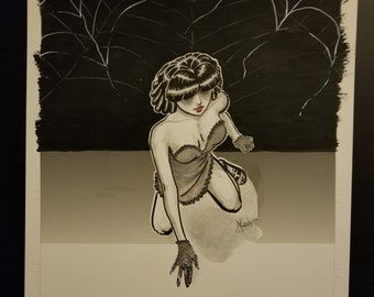 Original Artwork - Sad Little Girl
