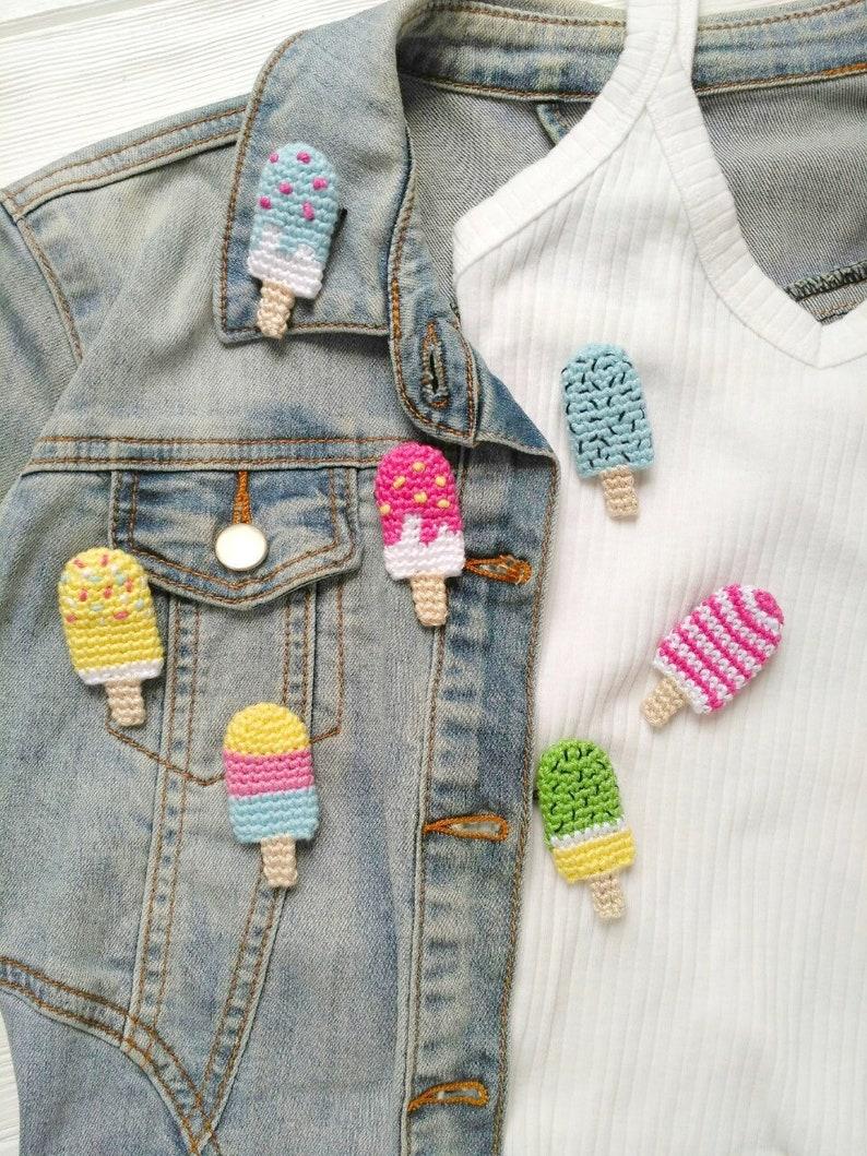 5b29339782eb3 Ice cream brooch Ice lolly brooch Popsicle brooch Ice pop