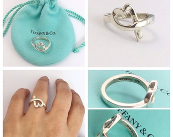 8061873e8 Beautiful silver Tiffany & Co PALOMA PICASSO Loving Heart Ring size L