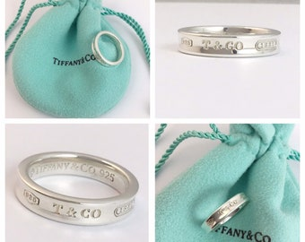 81e6ff7d7 Stunning AUTHENTIC Tiffany and Co Sterling Silver 1837 Ring UK size K