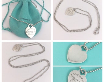 769723baf99 Authentic and RARE Tiffany & Co Return to Tiffany Large Heart Tag Necklace