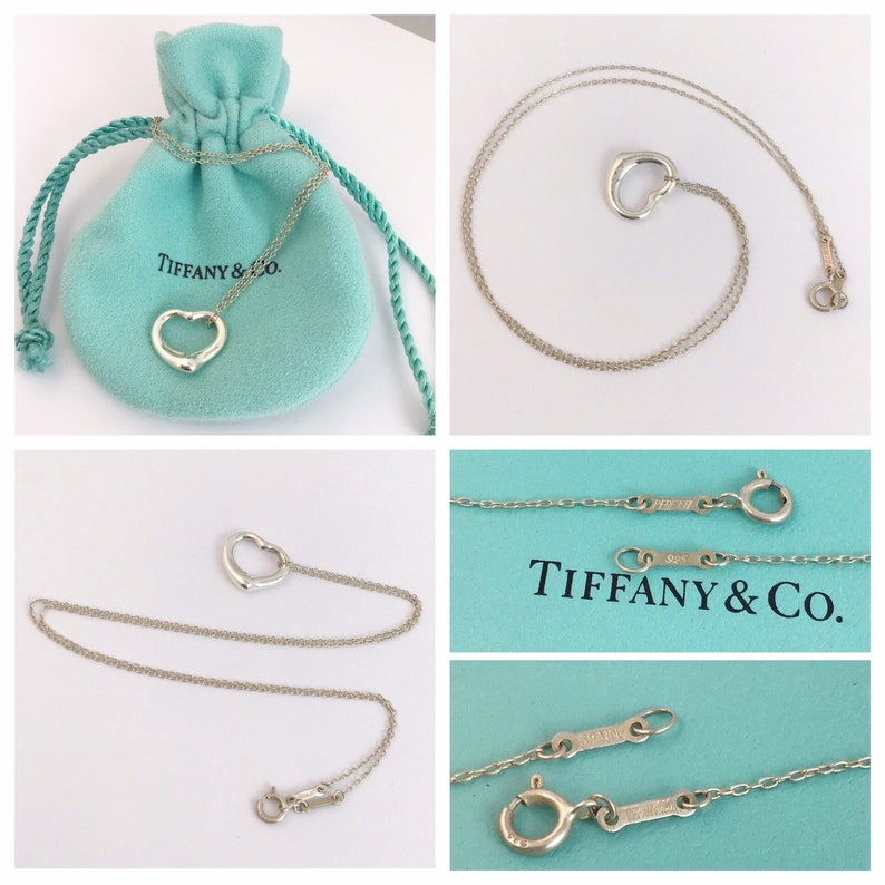 145871f11893f Amazing AUTHENTIC Tiffany and Co Elsa Peretti Open Heart necklace in  sterling silver RRP 205