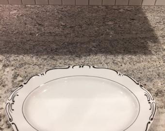 Ucagco China Japan Heirloom 12 inch Oval Serving Platter