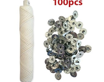 Braided wic 100ft spool includes 100 piece sustainer tabs Candle Wicks For Candle Making!