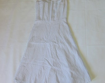 Duck Head Jeans White Striped Strapless Dress S Size