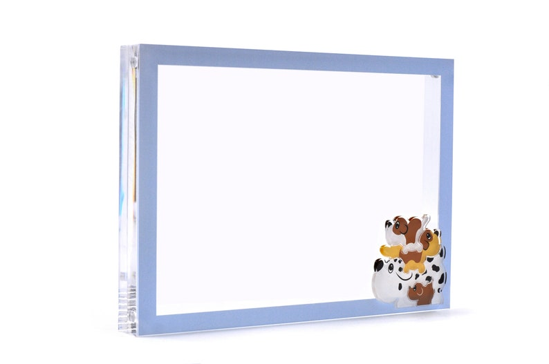 Unique Gifts FREE Worldwide Shipping Birthday Baby Shower 5x7 Acrylic Dog Family- Animal Picture Frame Nursery Decor| Handmade