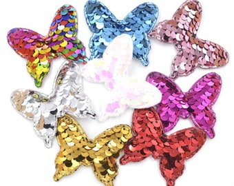 16pcs Sequin Butterfly Patch Felt Appliques Sewing Cloth DIY Craft Ornament  Scrapbooking 00bf3c2e9a3d