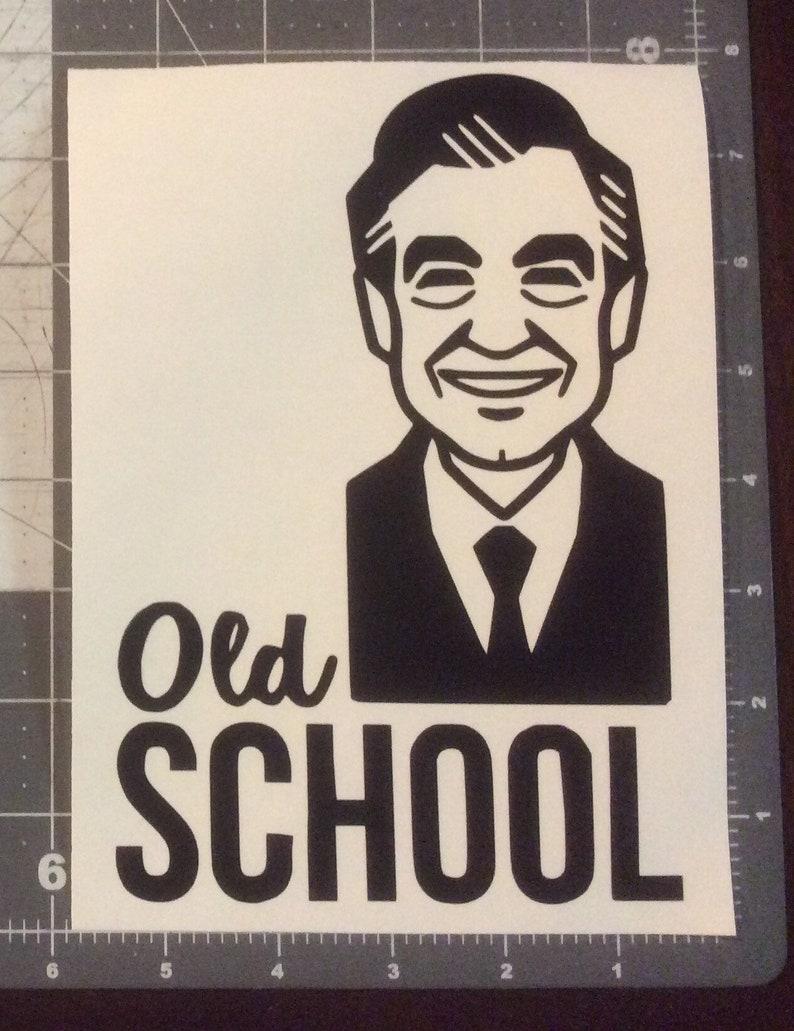 Rogers Old School Vinyl Adhesive Decal Mr