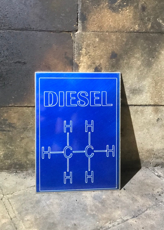 Diesel engraved molecular structure | Etsy