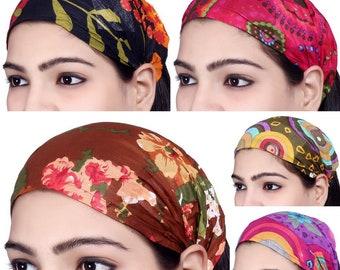 5d7c710bd0f3 Lot 10 Pieces Womens Mens Cotton Headband Printed Hairband Bandana Unisex Headbands  Yoga Headbands Casual Workout Hairbands