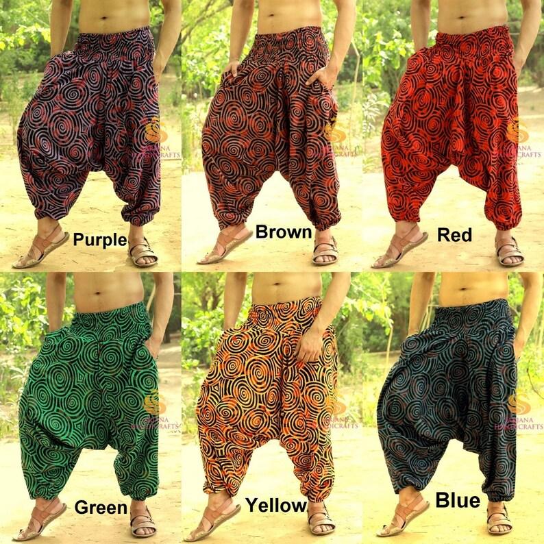 6b0812ca209 Mens Cotton Harem Pants Womens Yoga Pants Unisex Casual