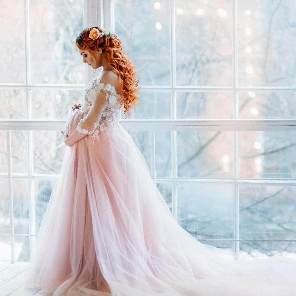 73561e2eaa348 Blush Maternity Wedding Dress | Huston Fislar Photography