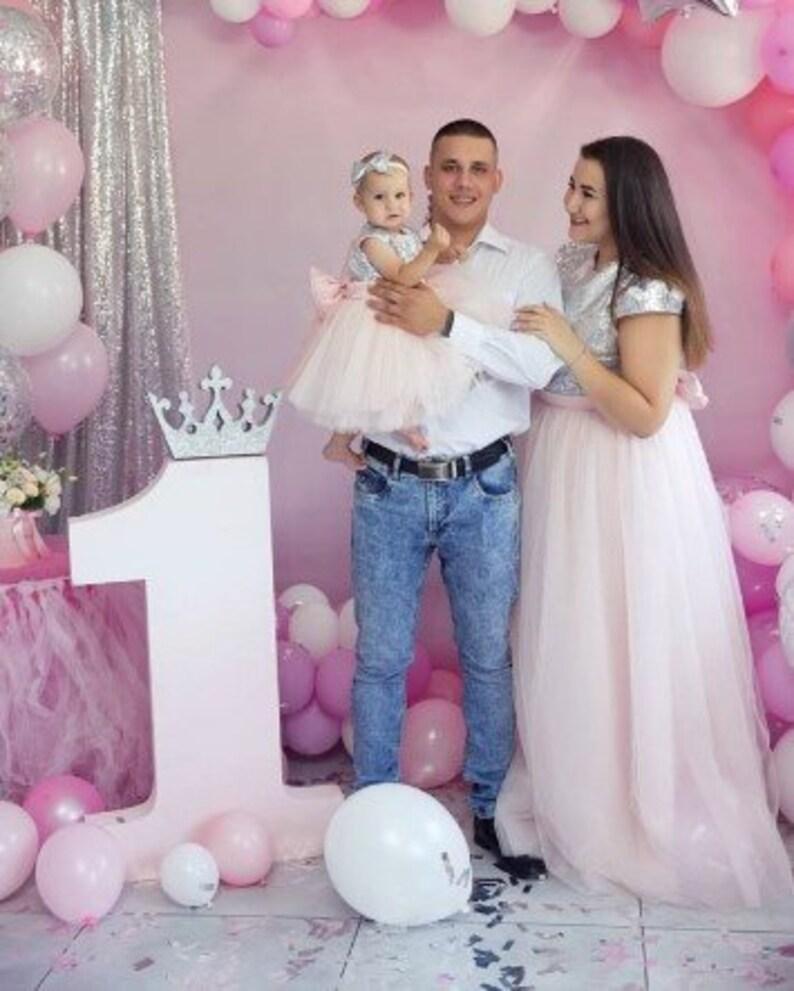 94ed629c6b942 Bébé maman assorti rose robes de maman et moi robes mère fille