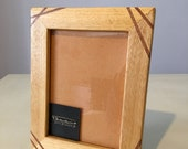 13x18 Wooden Photo Frame rustic handcrafted in koto made in Italy, inlaid wood frame, solid wood, Handmnade