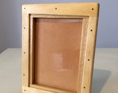 13x18 Wooden Photo Frame rustic handcrafted in koto made in Italy, wood frame, solid wood, handmade
