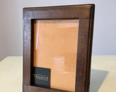 13x18 Wooden Photo Frame rustic handmade walnut made in Italy, wood frame, solid wood, handmade