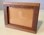 13x18 Wooden Picture Frame Rustic handcrafted mahogany made in Italy, wood frame, solid wood, handmade