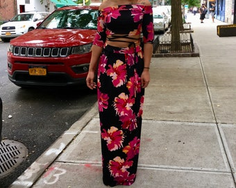Flower Power Long Skirt