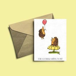 Best Friend Friendship Card Hedgie Hedgehog Happy Birthday Card