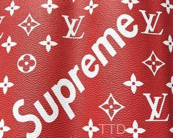 Louis Vuitton Supreme LV Supreme Leather Vinyl Supreme Louis Vuitton LV  Fabric Material By The Metre By The Yard 6d6eb54a9de