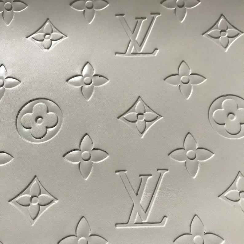 22b859ef162f Louis Vuitton LV Leather Vinyl White Louis Vuitton LV Fabric