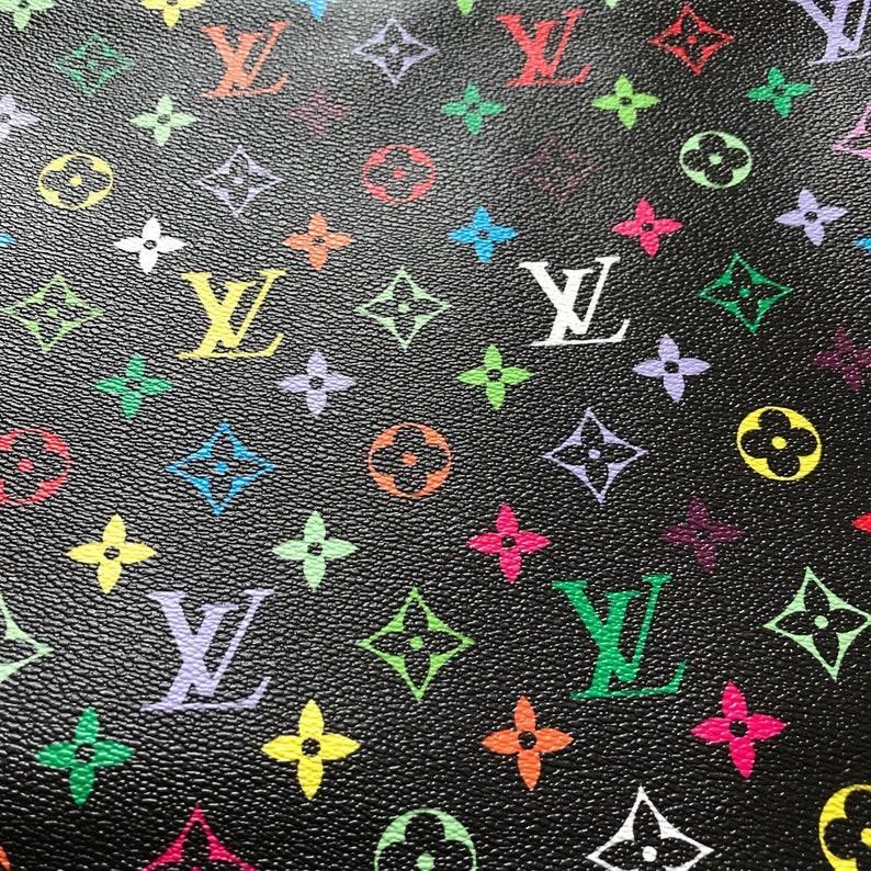 9056ad96eba9 Louis Vuitton LV Leather Vinyl Black Rainbow Louis Vuitton LV