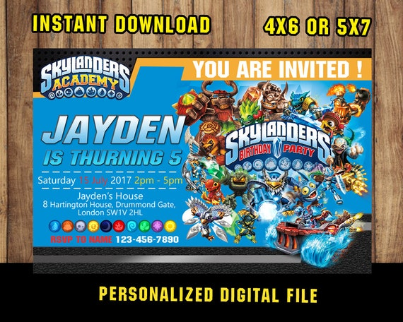 Skylander InvitationSkylander BirthdaySkylander