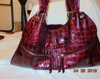 Vinayl Red Purse