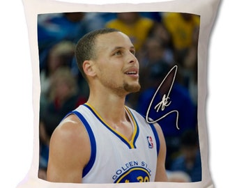 be8f089ba Stephen Curry - Golden State Warriors - NBA 3 Personalised Autographed Fan  Art Large Cushion 18 x 16.5 inch (45 x 42 cm)