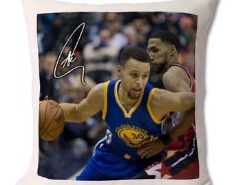 6e3705c08 Stephen Curry - Golden State Warriors - NBA 2 Personalised Autographed Fan  Art Large Cushion 18 x 16.5 inch (45 x 42 cm)