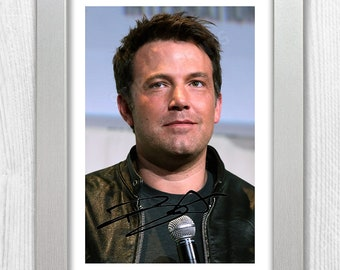 Ben Affleck Signed Autograph Reproduction Photo A4 Print Framed