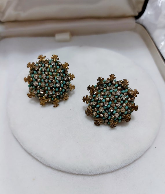 1950's Vintage Costume Jewelry Miriam Haskell Earr