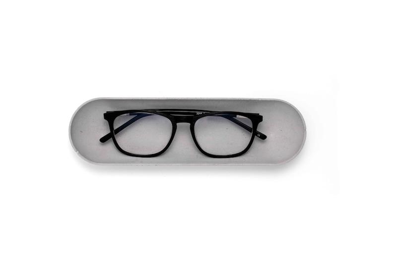 Concrete Eyeglasses Tray   Minimalist Design Glasses Holder  Natural Grey