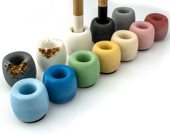 Colorful Concrete Toothbrush Holder | Make up Stand | Colorful Concrete