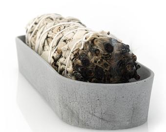 Concrete Smudge Holder  | California White Sage Wand | Beton Palo Santo Burner | Crystal Holder