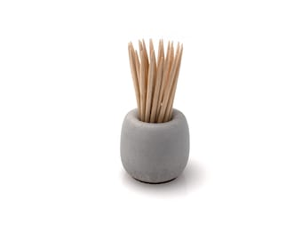 Minimalist Concrete Toothpick Holder | Beton Matchstick Stand