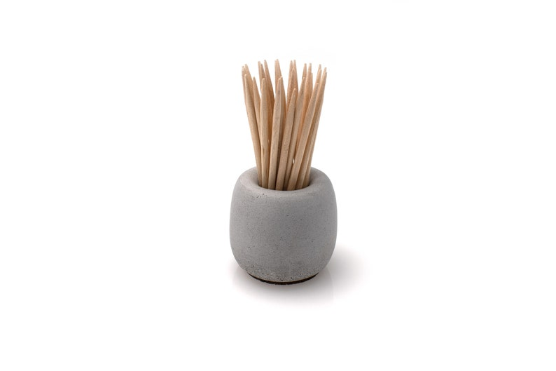 Minimalist Concrete Toothpick Holder  Beton Matchstick Stand image 0