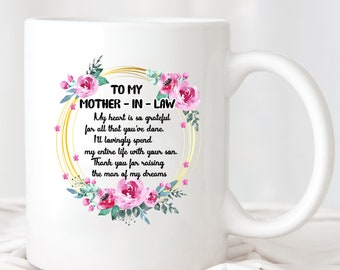 To My Mother In Law Heart Mug