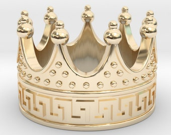 MAGNIFICENT CROWN RING, 3d printed, -50% Off