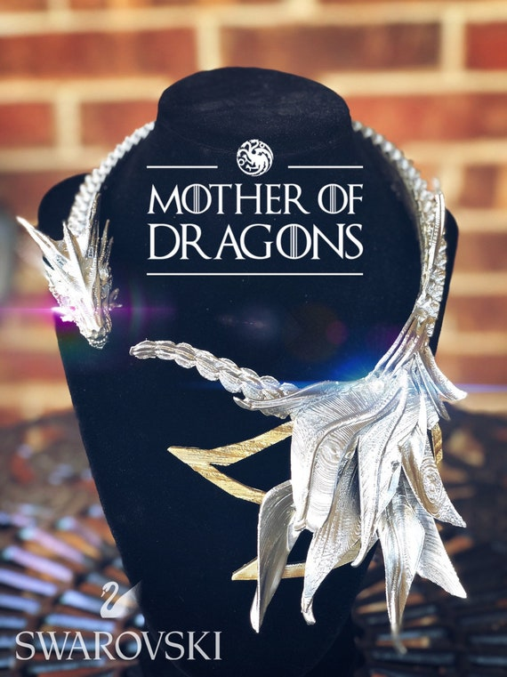 Game of Thrones Daenerys Targaryen Necklace with Swarovski crystals eyes