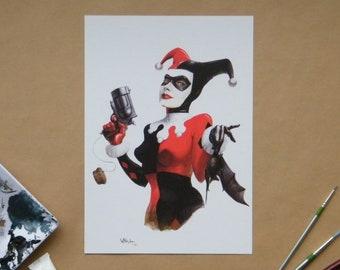 Harley Quinn print A4