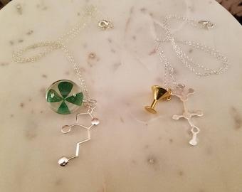 Whiskey and Vodka molecular pendants