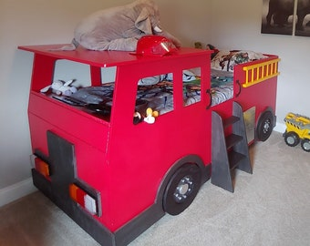 Firefighter Bed Etsy