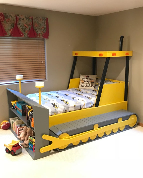 Bulldozer Bed Plans Pdf Format Create A Construction Themed Etsy