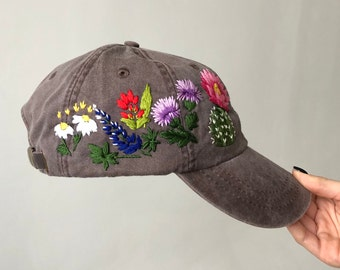 fec28aaab7a6d Hand embroidered hat