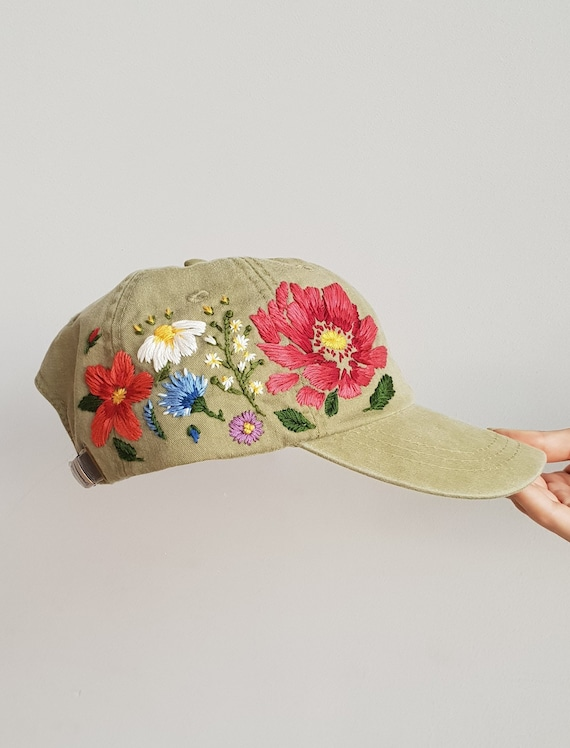 9d9143c1f9d Personalize Gift Baseball Women cap Hand embroidered hat