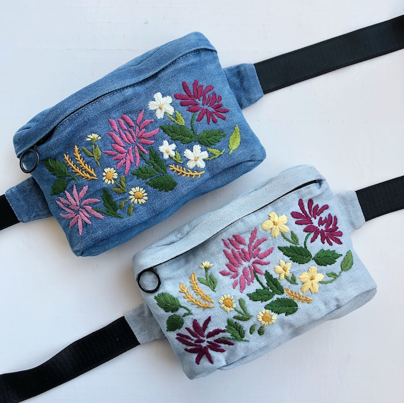 Hip pack Crossbody purse Belt pouch Gift for her Waist bag Belt bag Pocket belt Hip pouch Hip bag Hand embroidered bag Fanny pack
