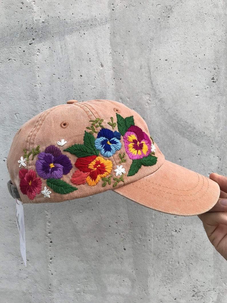 2b2160feeb9458 Hand Embroidered Hat Embroidered Baseball Caps Custom | Etsy
