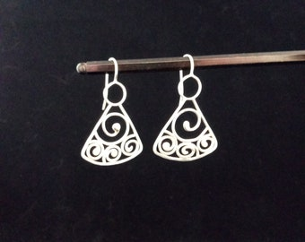 Argentium Silver Fused Wire Earrings