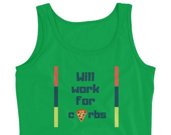LADIES' tank-Will Work for carbs